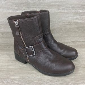 Clarks Merrian Lynn Leather Zip Ankle Boots 8